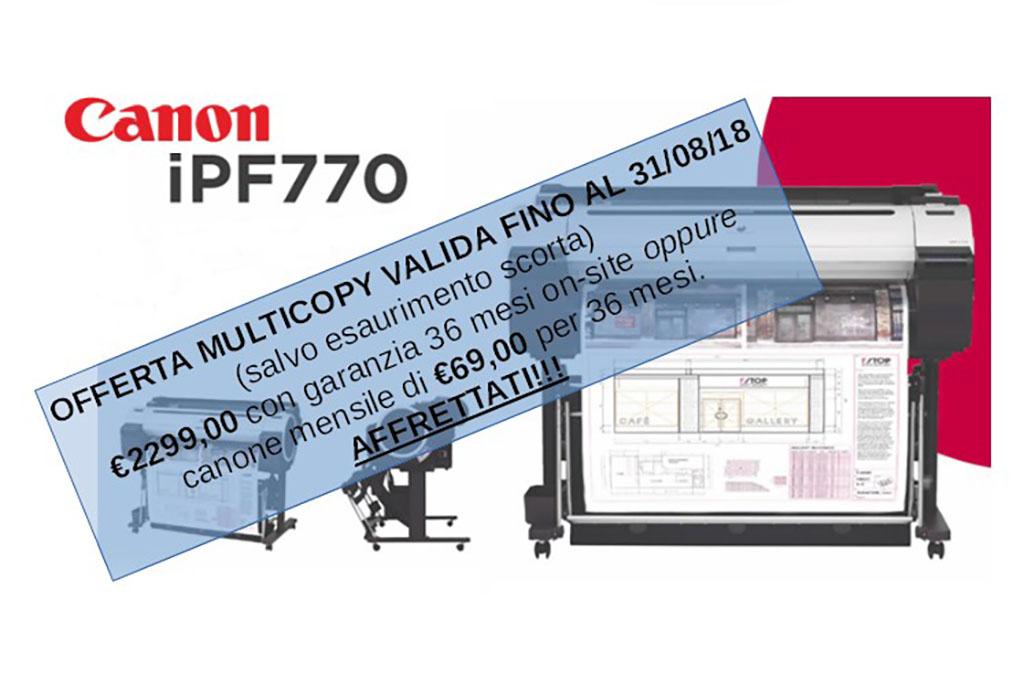 Offerta plotter Canon IPF770