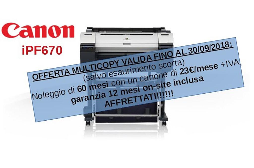 Offerta: plotter Canon iPF670