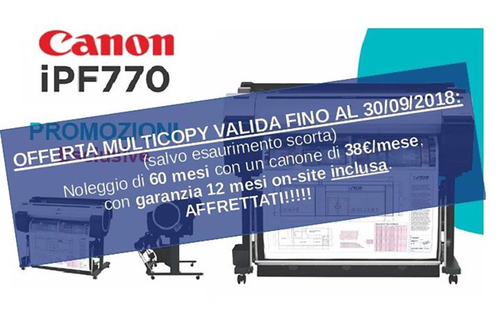 Offerta: plotter Canon iPF770