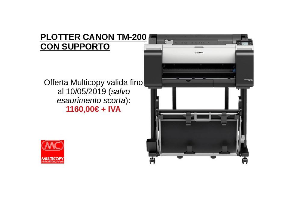 PLOTTER CANON TM-200 OFFERTA MULTICOPY ok