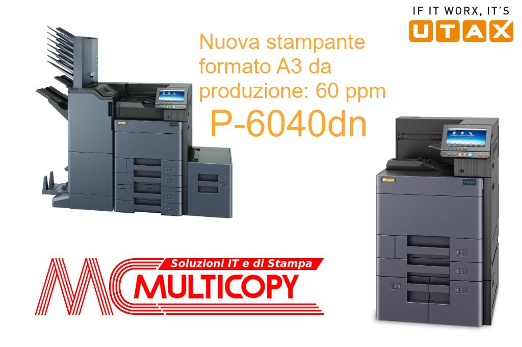 Nuova stampante A3 Utax P-6040DN: affidabilità e convenienza